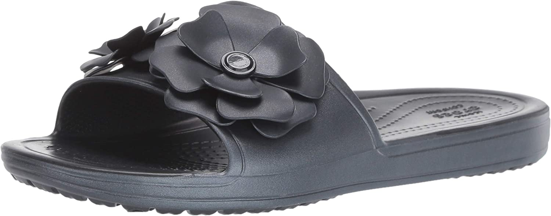 Crocs Womens Sloane Vivid Blooms Slide Slide Sandal