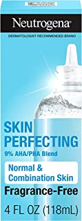 Neutrogena Skin Perfecting Daily Liquid Facial Exfoliant with 9% AHA/PHA Blend for Normal & Combination Skin, Smoothing & ...