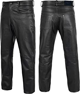 Alpha Cycle Gear Leather Motorcycle Pant for Bikers Rider...