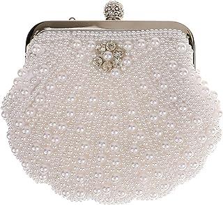 Sharplace Damen Perle-Tasche Hochzeit Handtasche Party Tasche Clutch Handtasche Abendtasche