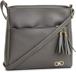 GLOSSY Women's Sling Bag (Grey)