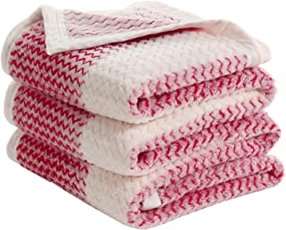 uxcell® Flannel Fleece Blanket Microplush Lightweight Soft Warm Twin Bed Blanket,Red and White Stripe,60 x 78 Inches