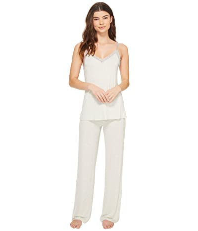 Natori Feathers Cami Pajama (Heather Pebble Stone) Women