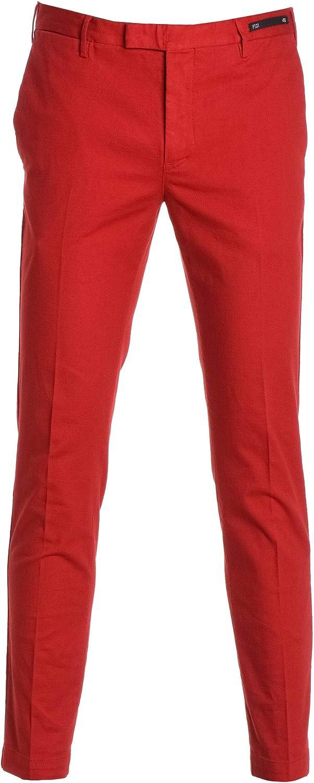 PT01 Men's KTZEZ10SPRNT830643 Red Cotton Pants