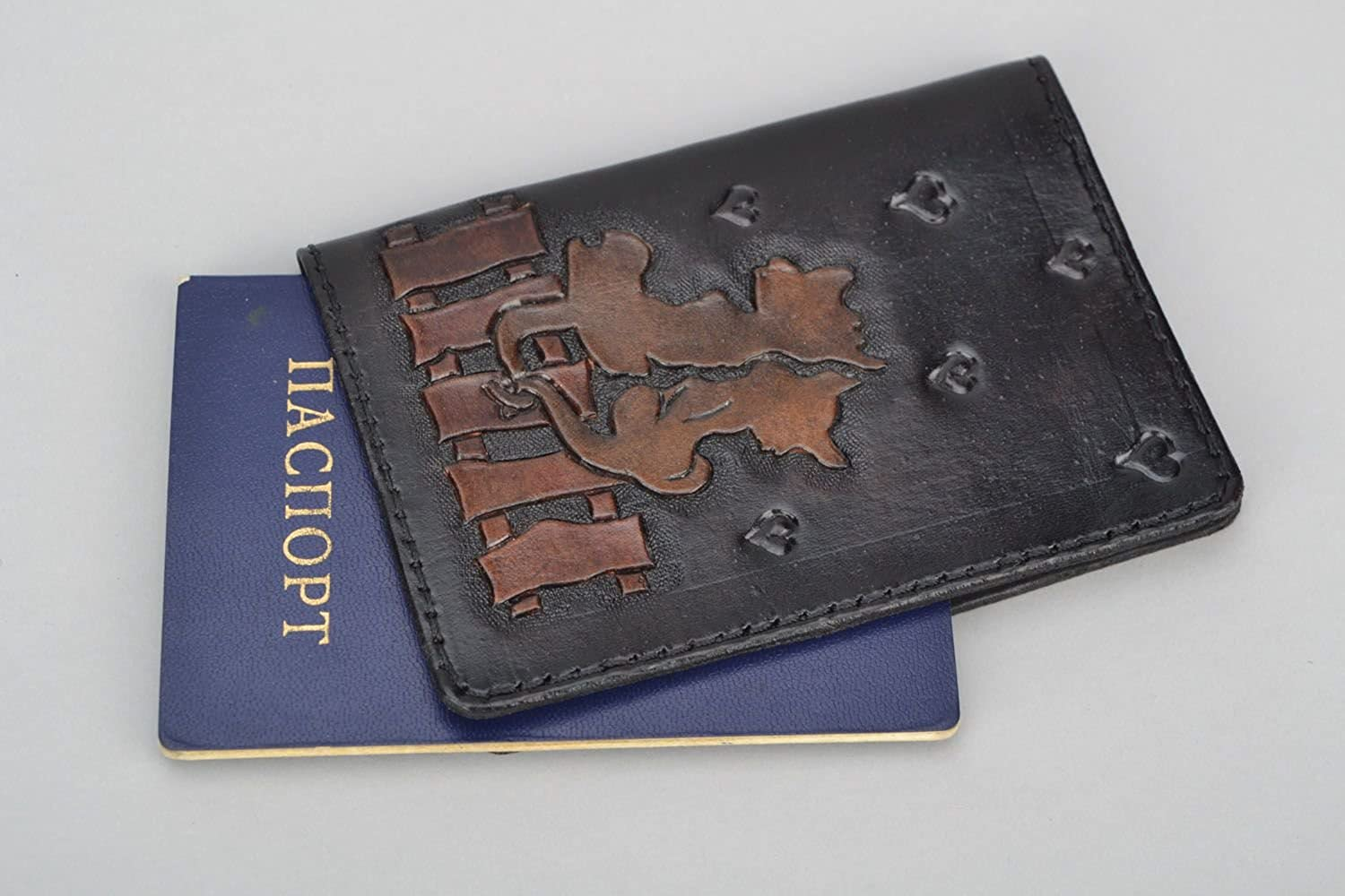 Leather Cover For Documents Cats