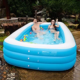 High quality Oversized Inflatable Pool Family Swimming Pool Adult Bathtub Inflatable Bathtub Children Thicken (Applicable:...