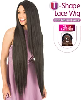 New Born Free Human Hair Blend Lace Front Wig 4X4 XL Magic Lace U-Shape Lace Wig MLUH100 (613)