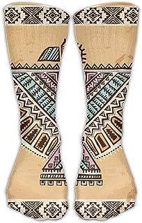 Calcetines clásicos para hombres y mujeres Medias atléticas tribales de indios americanos Calcetines largos Calcetines largos Talla única 30 cm