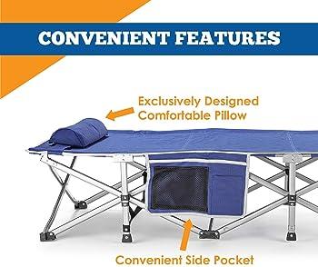 Deluxe Portable Pliant comfortsmart bébé avec Sleeping Pad Camping meubles