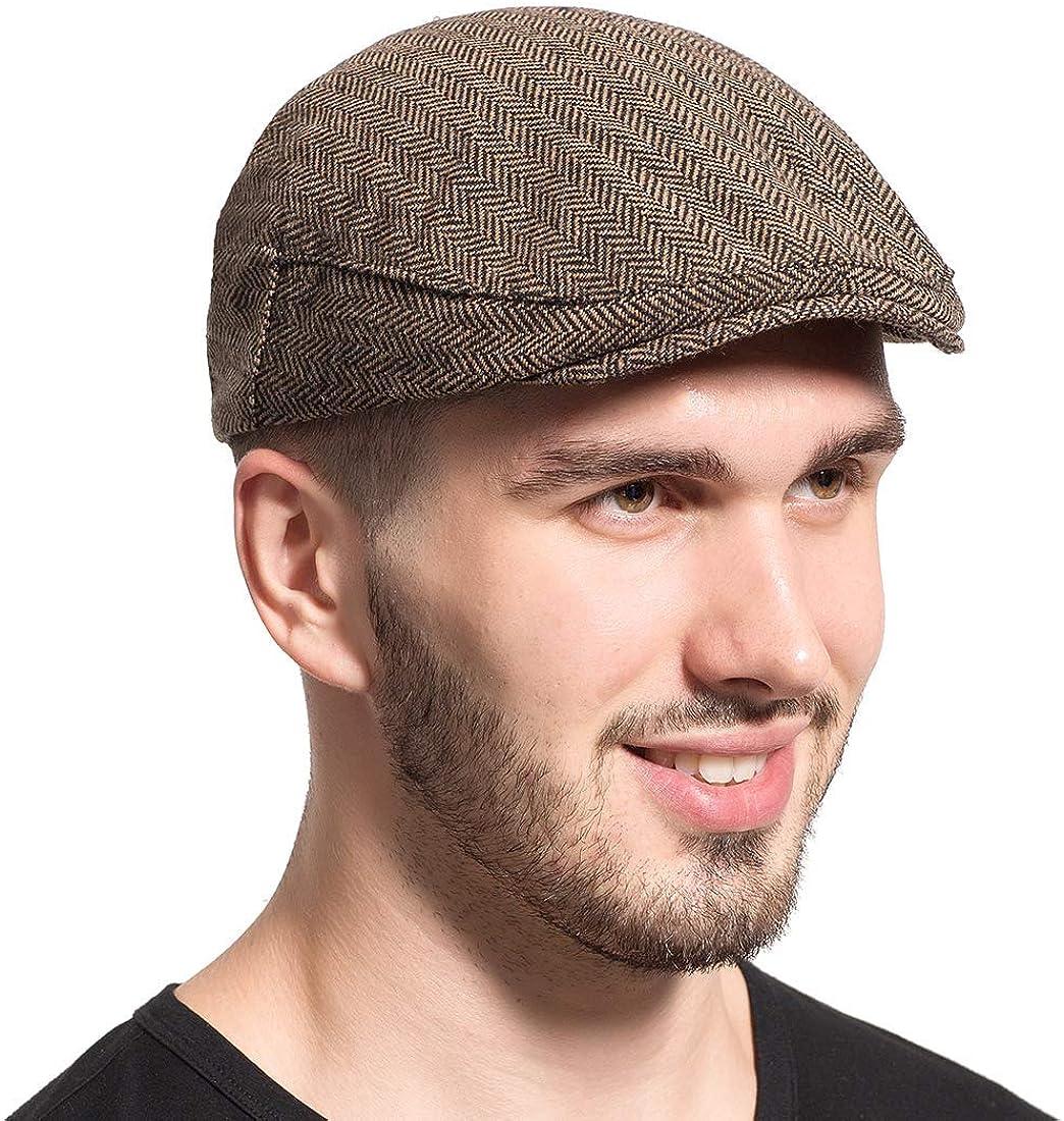 Gatsby Newsboy Hat Men Women Spring new Popularity work one after another Trendy lvy Twee Herringbone Classic
