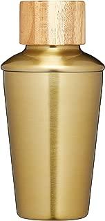 Barcraft Mini Metal Cocktail Shaker, 250ml (9 Fl Oz) - Brass Finish