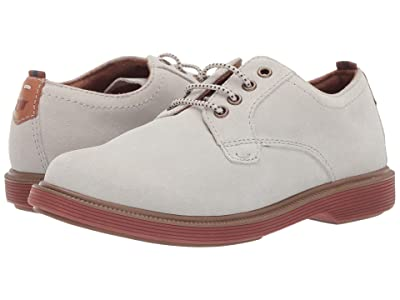 Florsheim Kids Supacush Plain Toe Ox, Jr. (Toddler/Little Kid/Big Kid) (White Suede/Brick Sole) Boy