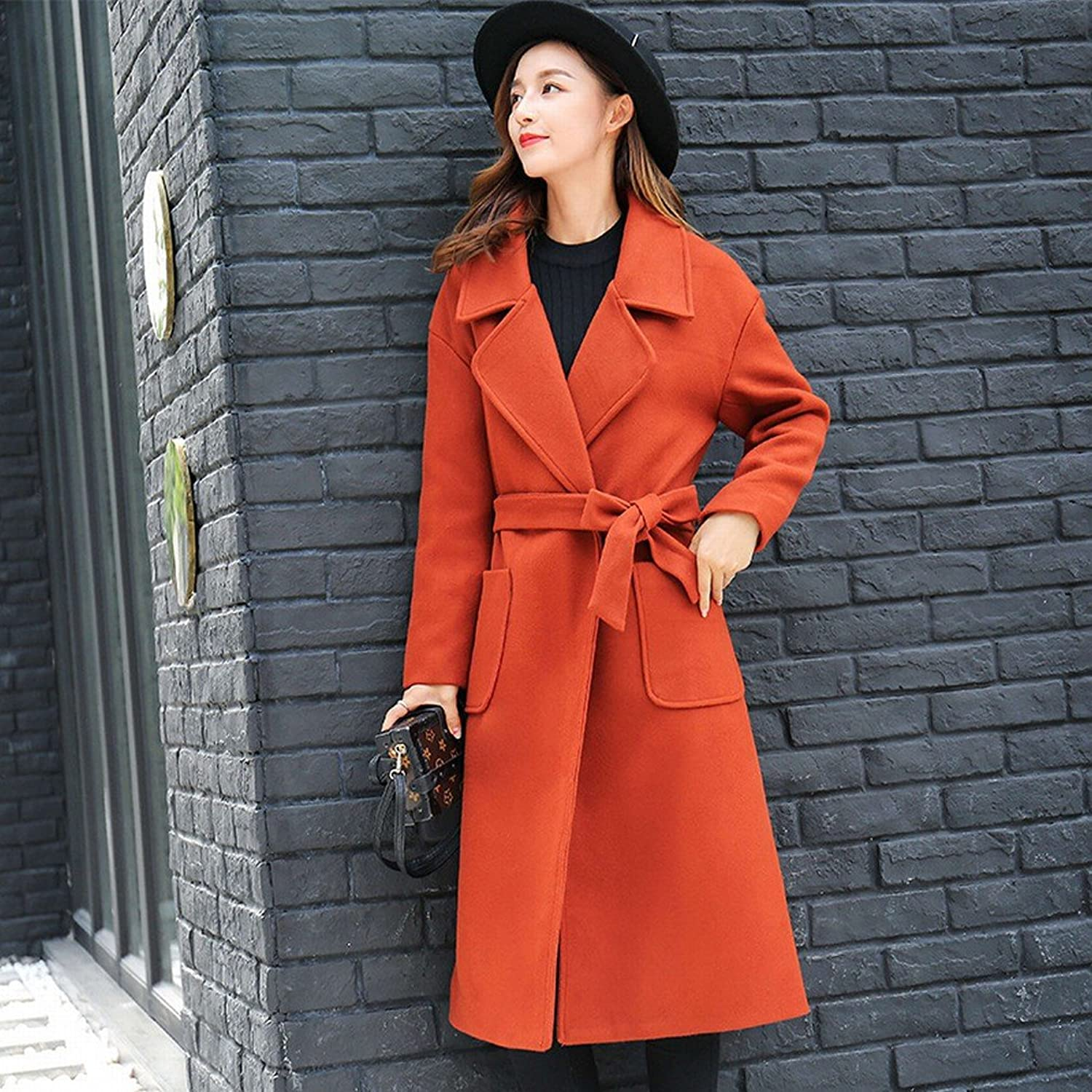 BTTB Autumn and Winter Fashion Lengthened Paragraph Thickening Warm Woolen Coat Long Coat