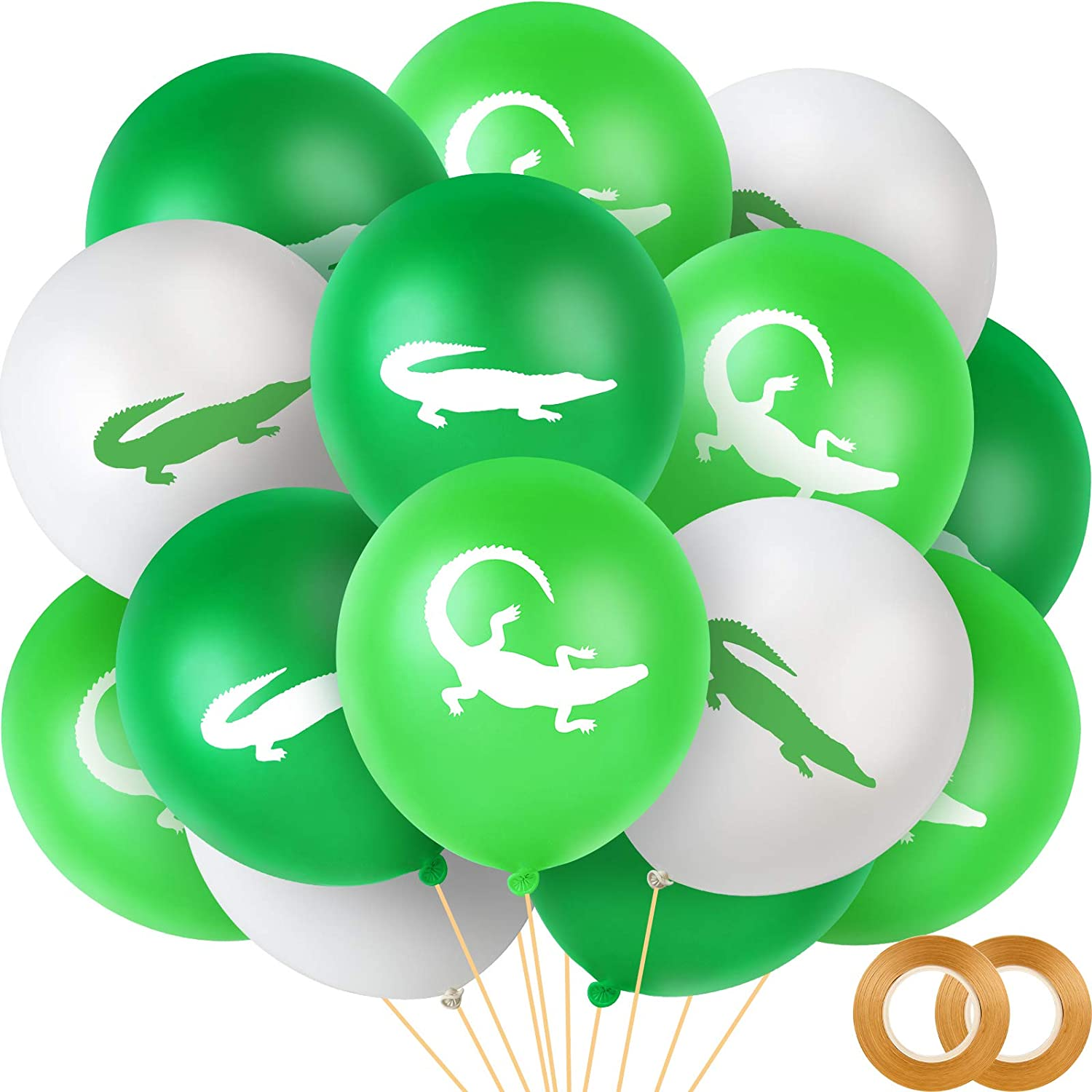 Ranking TOP6 60 Pieces Crocodile Cheap SALE Start Latex Themed Balloons and Alligator