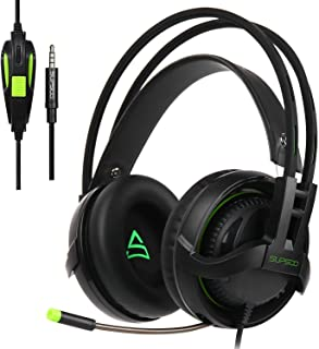 [2017 New Updated PS4 Gaming Headset] SUPSOO G810 Multi-Platform Gaming Headset with Mic 3.5MM Jack in-LINE Volume Control Over-Ear Gaming Headphones for Playstation 4 / PC/Xbox one/Mac/Smartphones
