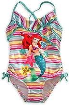 Disney Store Deluxe Ariel The Little Mermaid Swimsuit Rainbow UPF 50+
