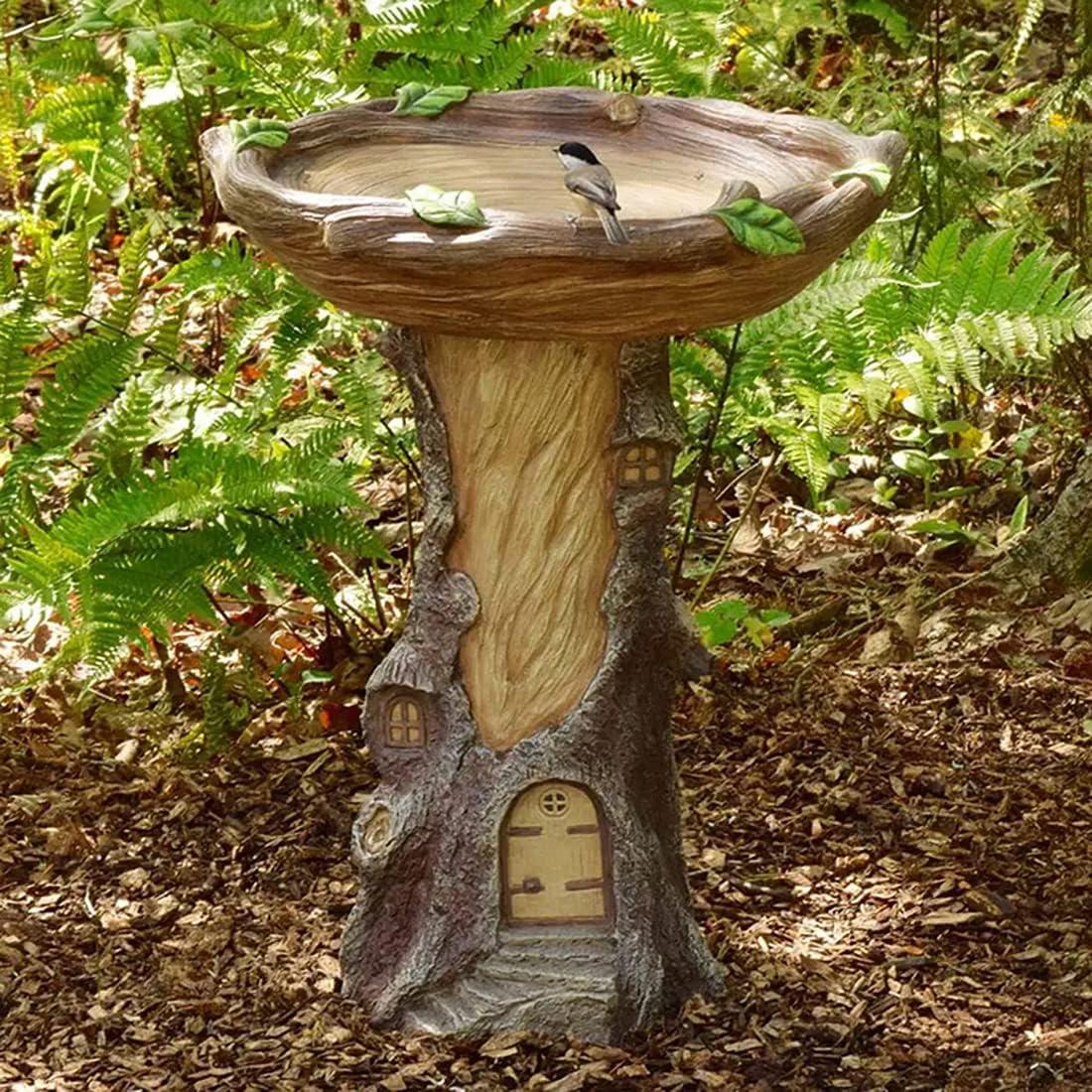 Max 79% OFF Creative Fairies Handmade Brown Pedestal for Bath Bird - Manufacturer direct delivery Outdoor