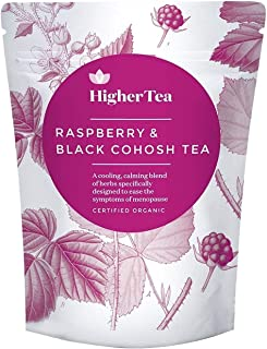 Raspberry and Black Cohosh Tea for Menopause Relief. Perfect Cooling Support, Calming Tea Formula for Sympt...