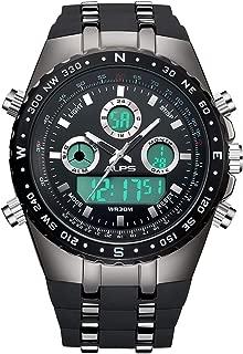ALPS Reloj de pulsera de hombre de lujo con cronógrafo en acero inoxidable con pulsera de eslabones de estilo corporativo