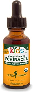 Herb Pharm Kids Certified-Organic Alcohol-Free Echinacea Glycerite Liquid Extract, 1 Ounce