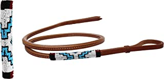 Horse Leather Western Saddle Tack Harness Over and Under Beaded Whip 700RT02