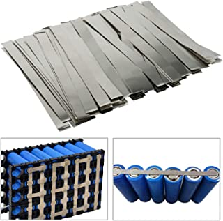 100Pcs Pure Nickel Strip, 99.6% Purity Nickel,0.15x8x100mm Strips for 18650 Soldering Tab,for Lipo, Nimh, Nicad, Nicd Battery Spot Welding and Soldering