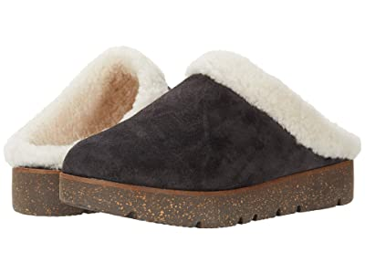 Gentle Souls by Kenneth Cole Lavern Closed Toe Slide Cozy (Charcoal Suede) Women