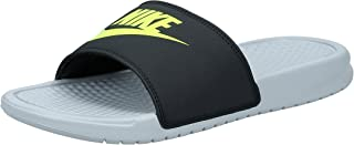 "Nike Men's Nike Benassi ""just Do It."" Sandal, Men's Beach & Pool Shoes, Multicolour (Wolf Grey/Volt/Black 027), 6 UK (40 EU)"