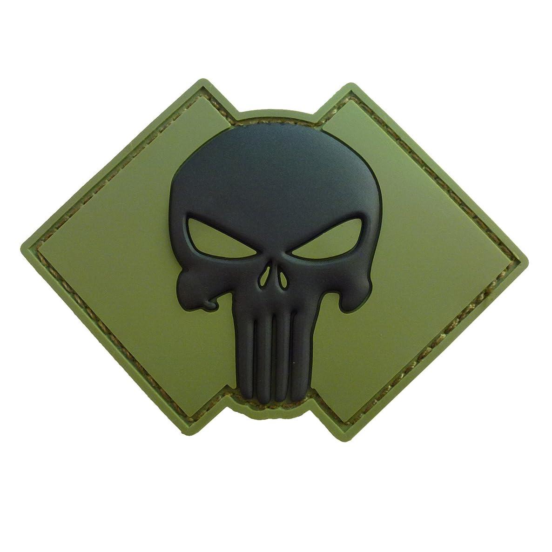 LEGEEON Olive Drab Green OD Punisher Skull US Navy Seals DEVGRU PVC 3D Rubber Hook&Loop Patch