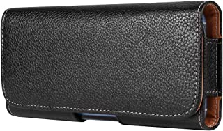 Motorola G6 Plus//Huawei Mate 20 S8+ Universal Cellphone Holster Horizontal Texture Belt Case Compatible for Apple iPhone Xs Max LG V40 ThinQ//OnePlus 6T 7 Plus//Samsung Galaxy S9