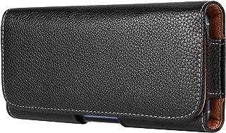 6.4 Inch Texture Horizontal Belt Clip Holster Compatible with Samsung Galaxy S10+ S9+ S8+ / A30 A50 M30 / A6+ A7 A8+ / J4 Core / J4+ J6+ J8 / Motorola G7 Power / G6 Plus/OnePlus 6T
