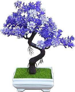 Pino japonés con cáscara Cedro de Bonsai decoración casera de la Boda árbol Artificial Altura Aproximadamente 20-24cm...