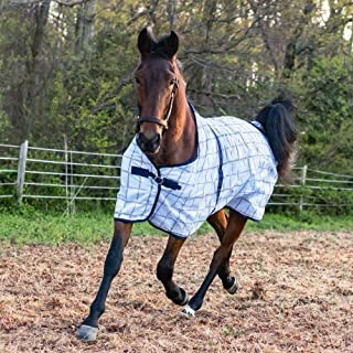 Horze Soft Mesh Fly Sheet With Leg Straps - Plaids