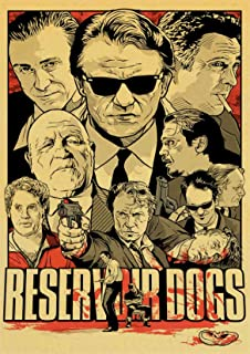 Reservoir Dogs Poster Gifts for Crime Film Fans Cult Film Wall Decor School of Magic Wall Art Quentin Tarantino Poster Living Room Artwork (24x32)