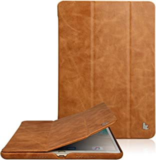 Jisoncase Classic Series Apple New iPad Pro 10.5 Case Vintage Genuine Leather Smart Cover Magnetic Flip Case with Auto- wake/ Sleep Function, Brown ( JS-PRO-20A20)