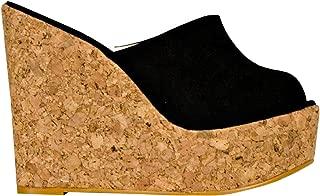 high wedge mule sandals