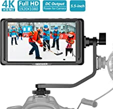 Neewer FW568 5.5-Inch Camera Field Monitor Full HD 1920x1080 IPS with 4K HDMI DC Input Output Video Peaking Focus Assist with Swivel Arm for Sony Nikon Canon DSLRs and Gimbals (Battery Not Included)