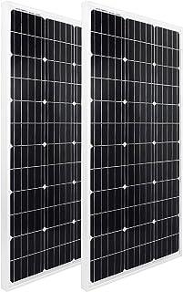 ECO-WORTHY ソーラーパネル 100W 単結晶 太陽光チャージ 超高効率 省エネルギー 耐蝕性 災害対策 日本倉庫出荷 2枚セット<200W>