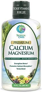 Liquid Calcium Magnesium - Natural Formula w/Support for Strong Bones - Liquid Vitamins w/Calcium, Magnesiu...