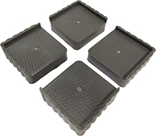 SS SS 4-Pieces Furniture Base Stand, Saves from Rust (Grey Black)