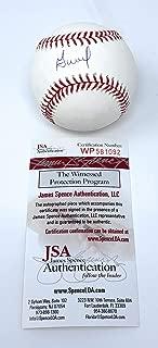 Jose Altuve Houston Astros Signed Autograph Official MLB Baseball JSA Witnessed Certified