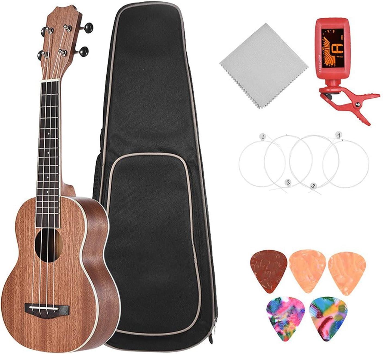 Popular brand 21 Inch Acoustic Soprano Ukulele Carrying Kit Wood Under blast sales Strap Sapele