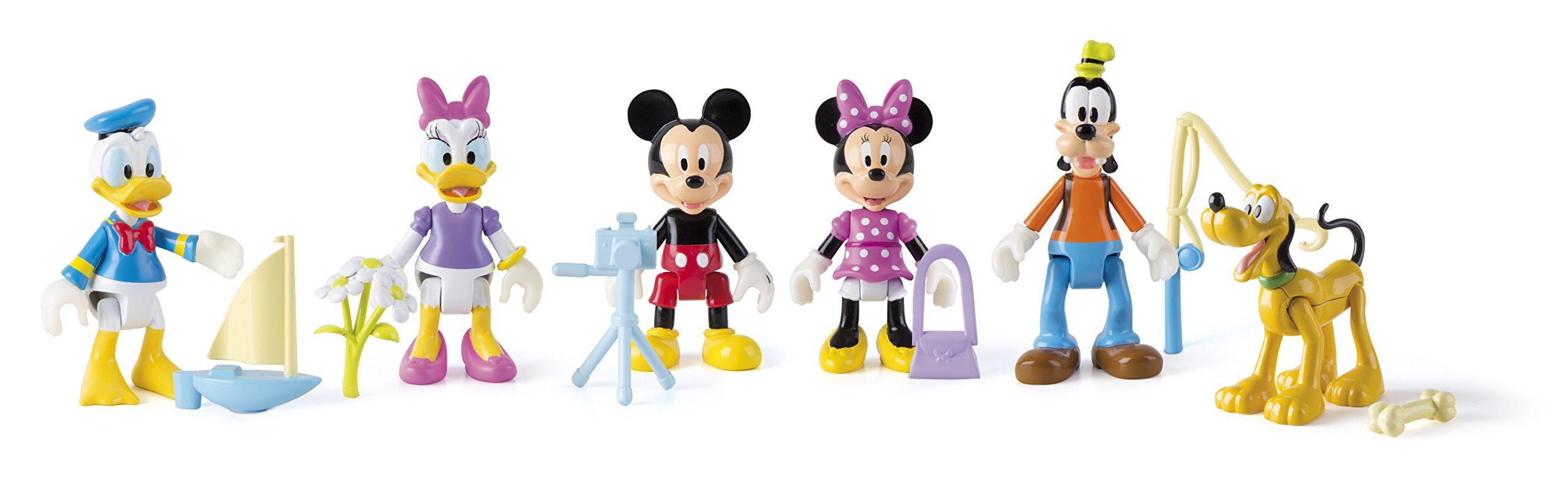 Casa club Mickey Mouse - 181854 - Modelo aleatorio - Tema de aventuras - Paquete de 1 figura articula. , Modelos/colores Surtidos, 1 Unidad: Amazon.es: Juguetes y juegos