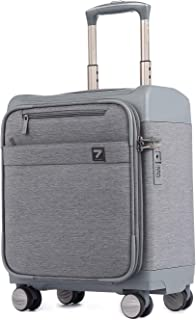 16 inch Carry on Business Suitcase Lightweight Underseat Spinner Luggage with TSA Lock Grey