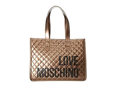 LOVE Moschino Love Shopping Bag (Bronze) Handbags