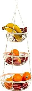 Useful. UH-FB179 3 Tier Hanging Fruit Basket (White)