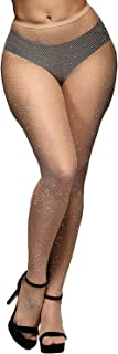 Rhinestone Fishnets Fishnet Stockings Festival Glitter Tights Sparkle Rave Fishnet Tights for Women
