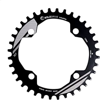 Sponsored Ad - SOLODRIVE 104BCD Mountain Bike Narrow Wide Chainring, 104mm BCD Single Chainring for 9/10/11-Speed MTB, Tra...