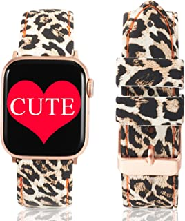 Super Cute Bands Compatible with Apple Watch Band 38mm 40mm 42mm 44mm, Silicone Printed Pattern Women Replacement Floral Straps for iwatch Series 5/4/3/2/1