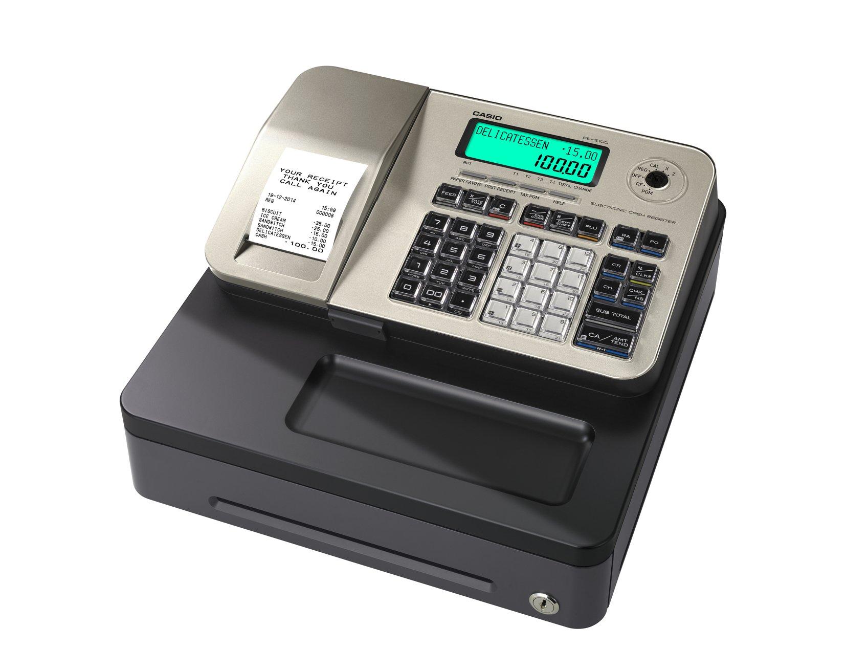 Caja registradora Casio SE-S100 (GOLD) 167 mm (Al) x 326 mm (An) x 345 mm (Pr): Amazon.es: Oficina y papelería